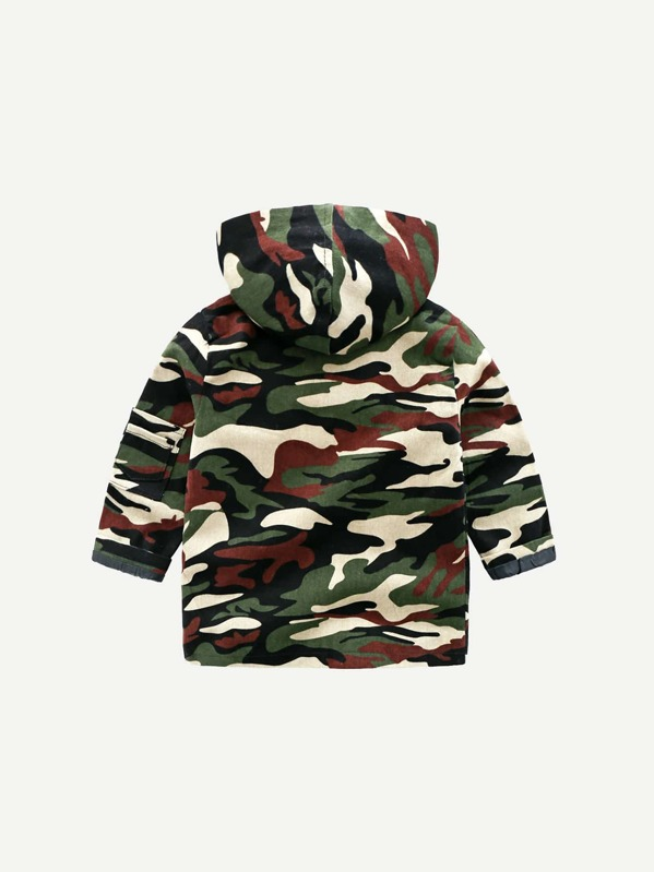 f37b870f7 Cheap Toddler Boys Camo Pattern Hooded Coat for sale Australia | SHEIN