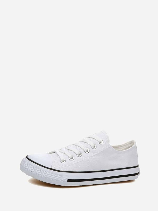 303c39c81147f Мужские парусиновые кроссовки с шнурками | SHEIN