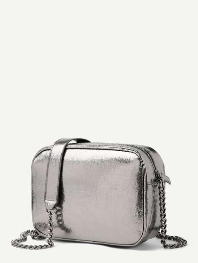 Metallic Chain Crossbody Bag  ed55b9babbe53