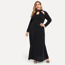 Plus Size Cutout Mock-neck Dress - $26.00