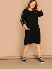 Plus Contrast Sideseam Night Dress