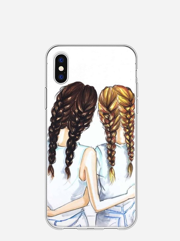 4d23b6926f Girl Print iPhone Case | SHEIN UK