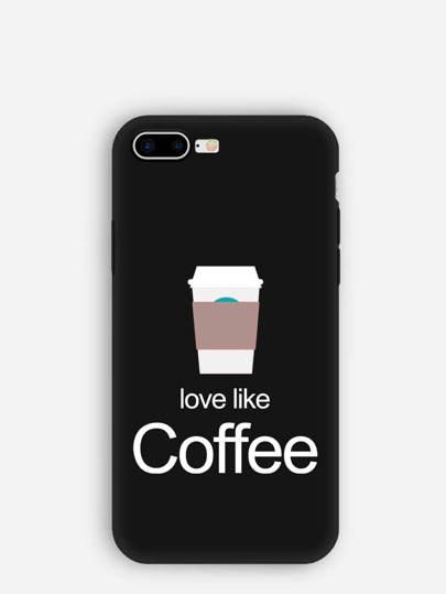 Coffee Cup Pattern iPhone Case