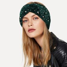 Rhinestone Decorated Twist Headband