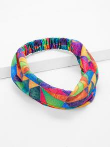 Elastic Color-block Headband