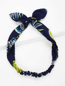 Leaf Pattern Bow knot Headband