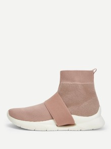 Chunky Sole Knit Sock Sneakers