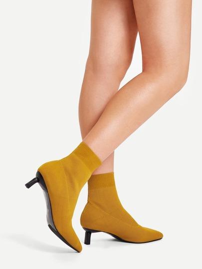 7ac43c12012a Plain Pointed Toe Socks Boots