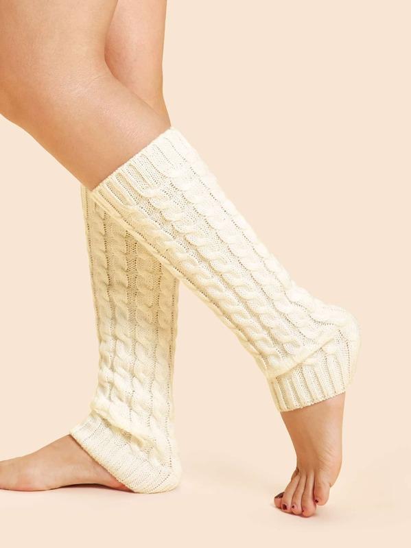 b3ae984f9 Cable Knit Leg Warmer Socks
