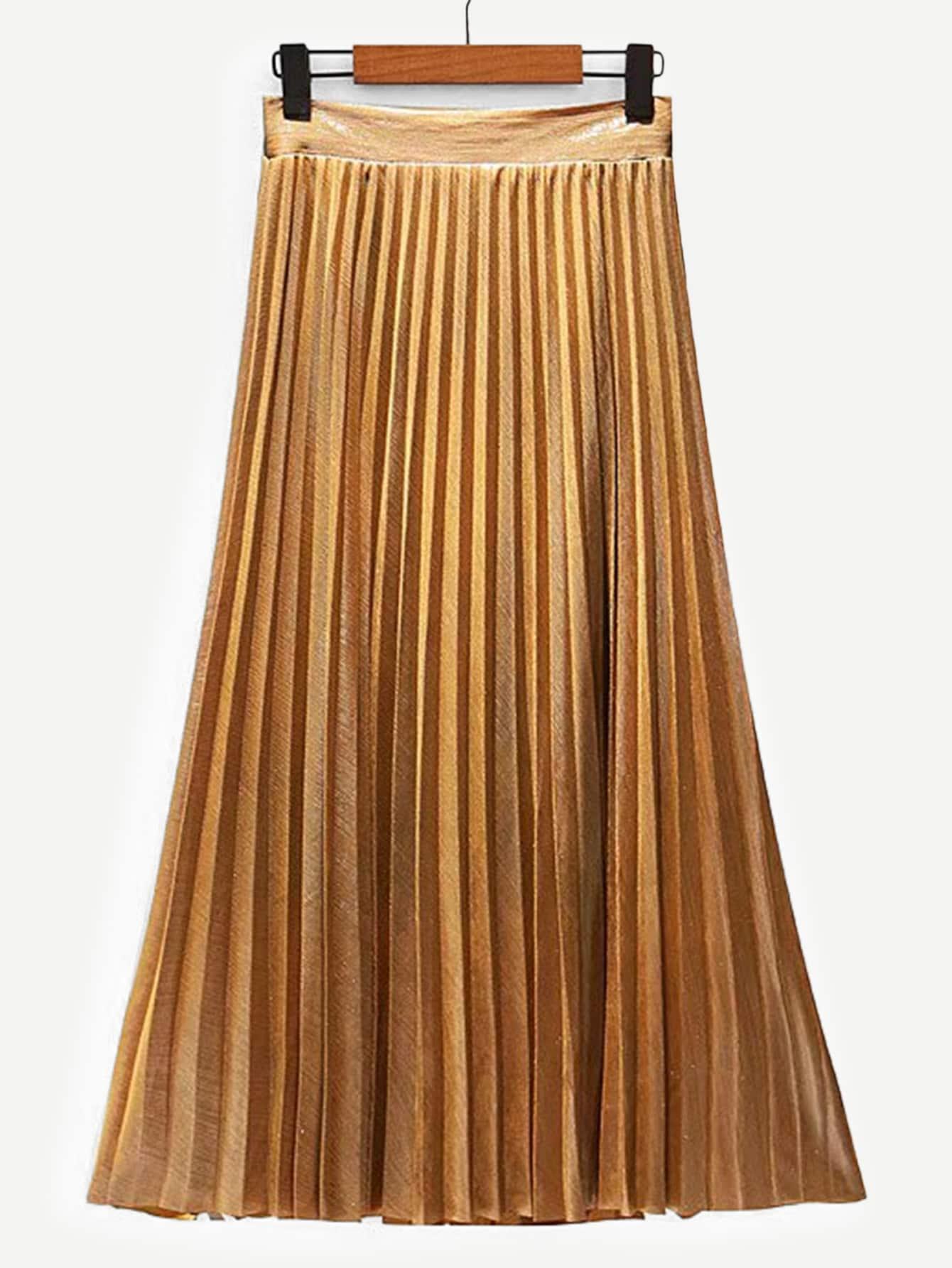 Pleated Velvet Midi Skirt Pleated Velvet Midi Skirt