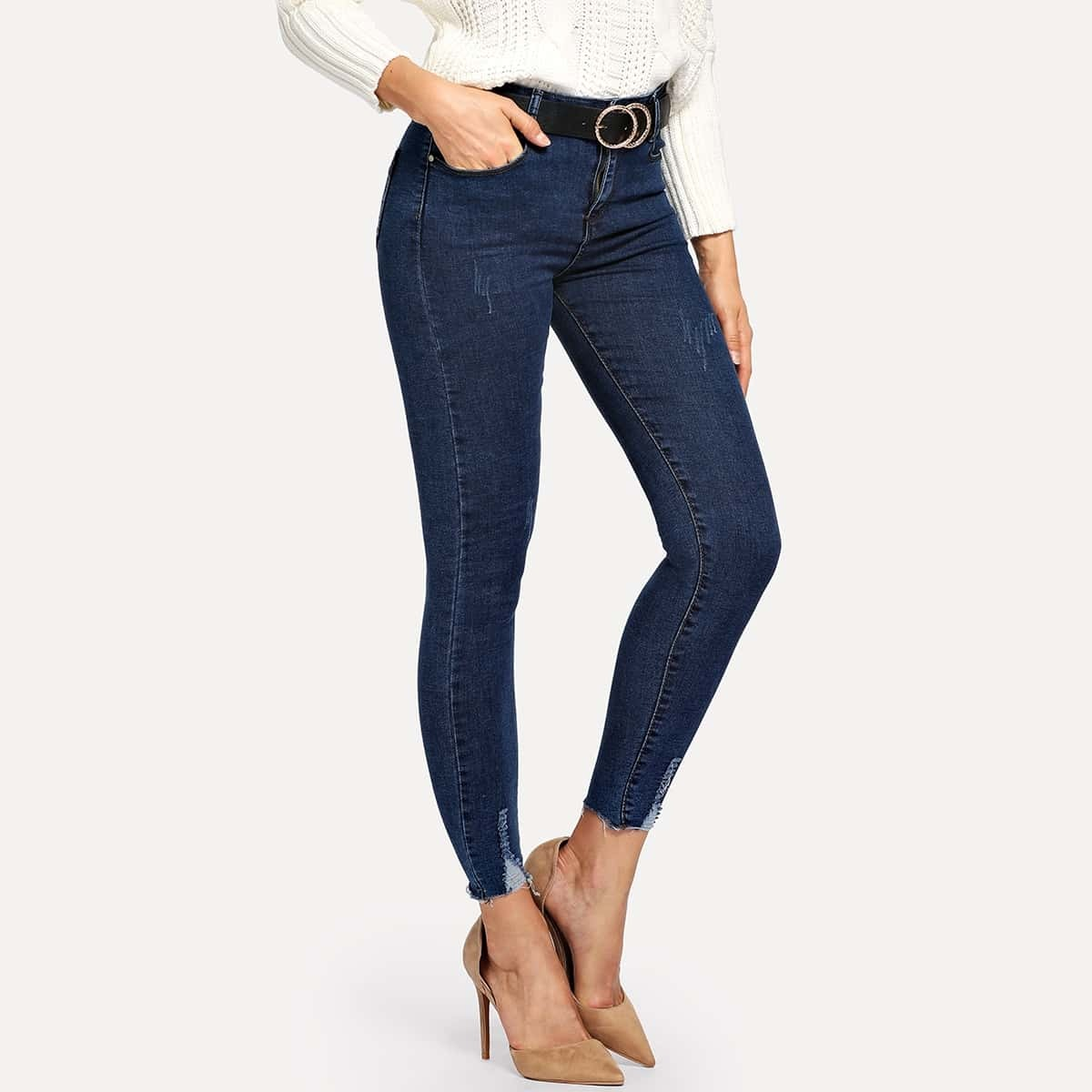 Ankle Skinny Jeans Without Belt