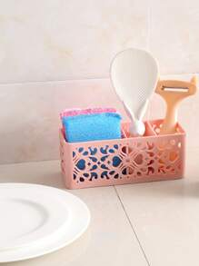 Desk Top Cutout Storage Basket