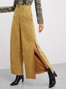 Split Side Wide Leg Pants