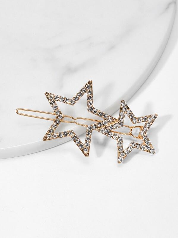 0b3249f571 Star Design Rhinestone Hair Clip | SHEIN