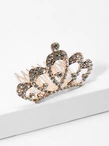 Rhinestone Decorated Metal Crown