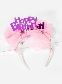 Girls Bow Decorated Birthday Headband