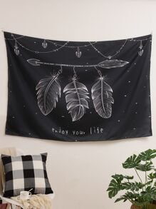 Feather Print Tapestry