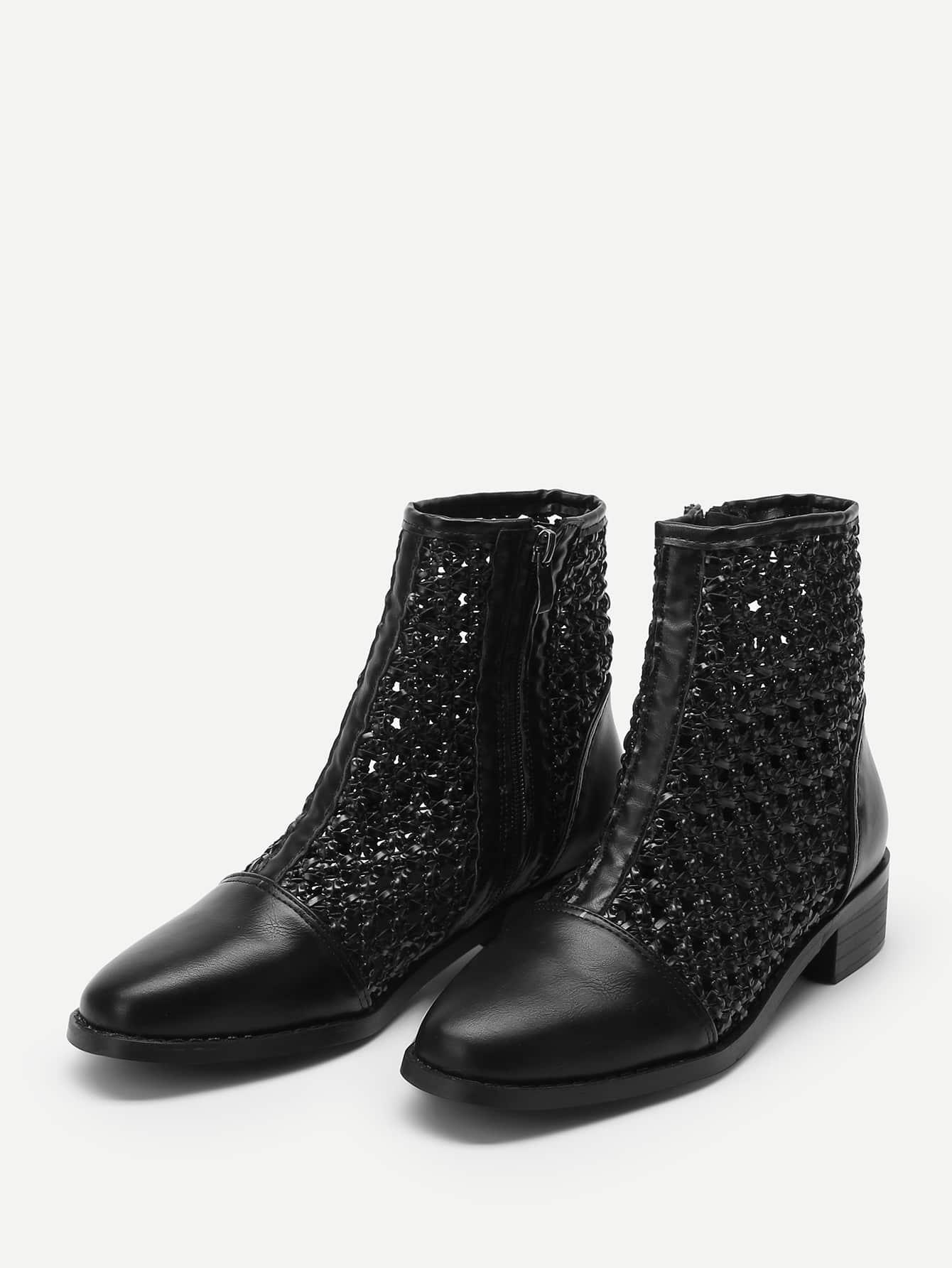 857e23b6b21 Cut-out Cap Toe Ankle Boots EmmaCloth-Women Fast Fashion Online