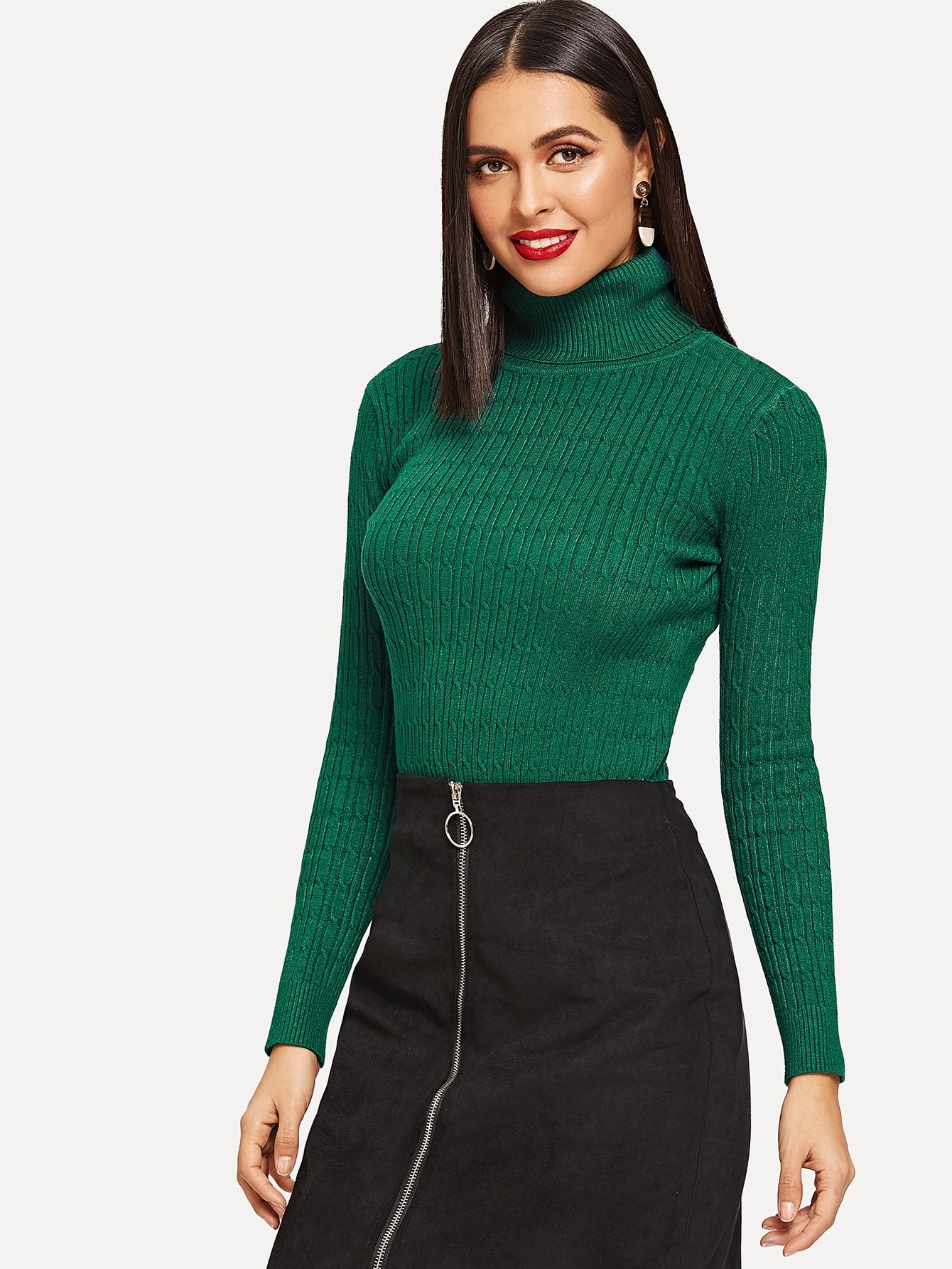 Turtle Neck Form Fitting Jumper Turtle Neck Form Fitting Jumper