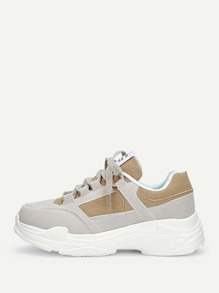 Lace-up Suede Trainers