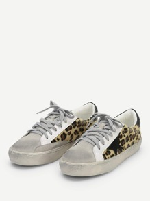 6950e97550 Leopard Print Lace Up Sneakers | SHEIN