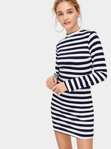 Striped Skinny Dress