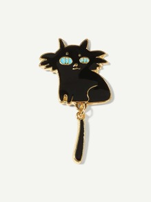 Cartoon Cat Shaped Brooch