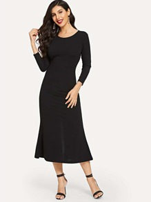 Split-back Longline Dress
