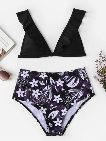 Floral Bikini Grande Azar Escote Al V WEbD9IeYH2