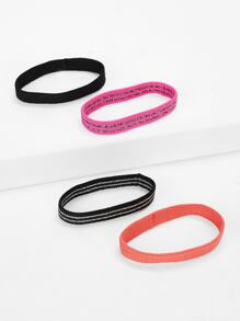 Striped Hair Tie 4pack