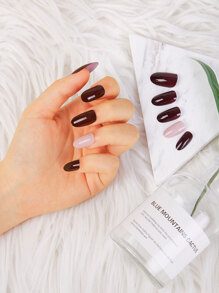 Jelly Round Fake Nails 24pcs
