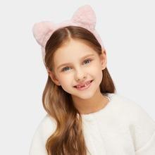 Girls Ear Decorated Faux Fur Headband