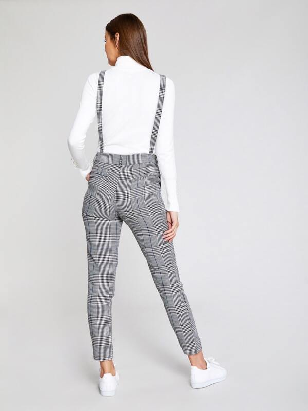 a311cc812 Checked Trousers With Braces | SHEIN UK