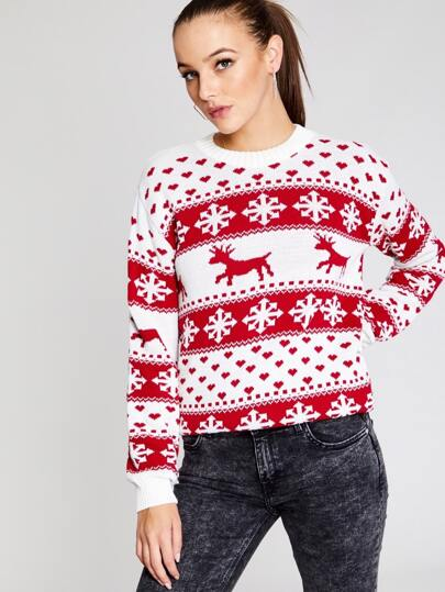 ab6282e98c5a80 Rood Casual Kerstmis Truien