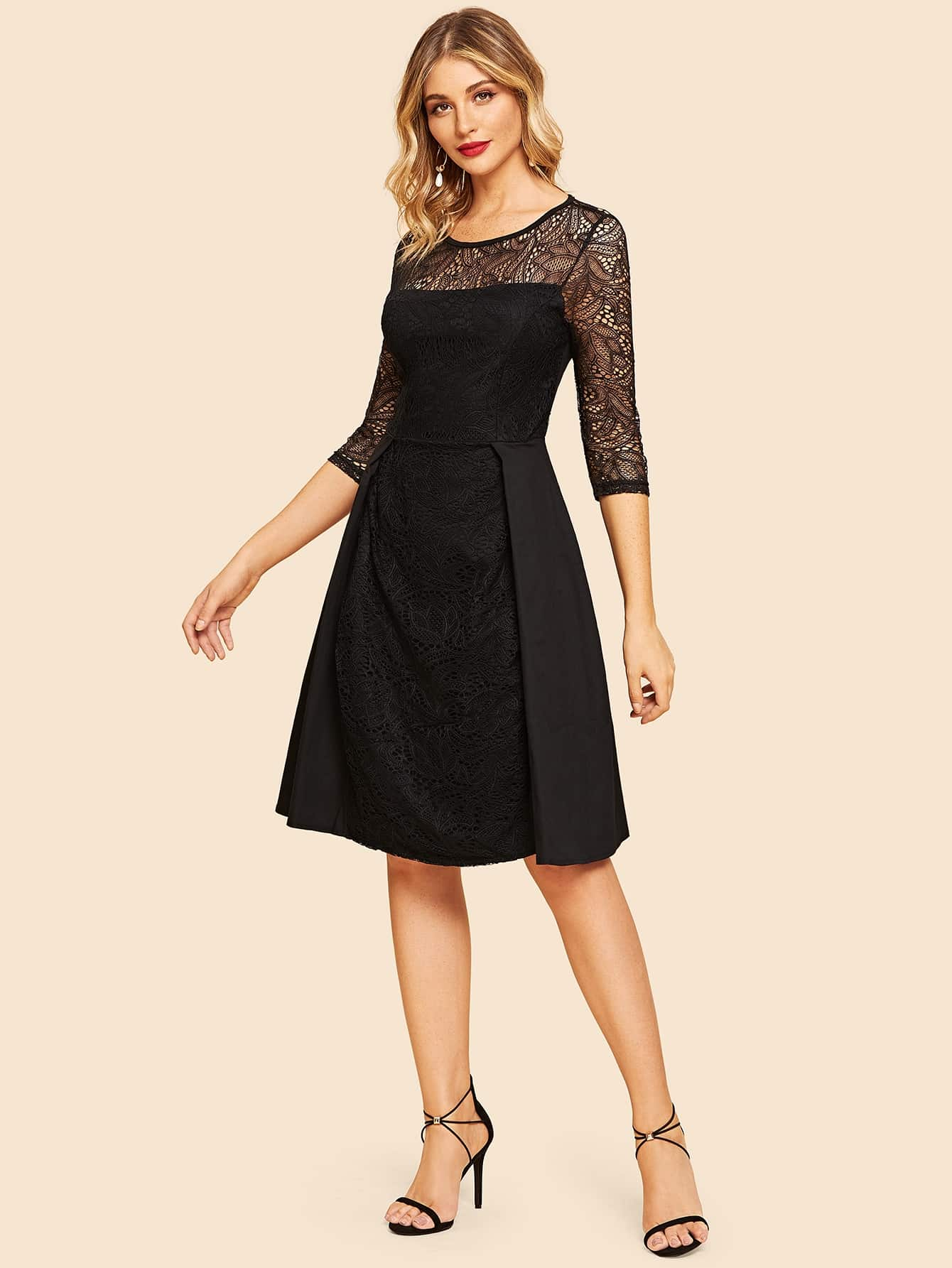 50s Lace Contrast Dress 50s Lace Contrast Dress