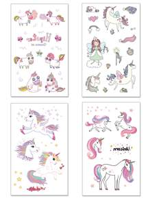 Cartoon Animal Shaped Tattoo Sticker 4pack