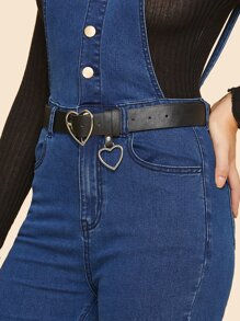 Heart Charm & Heart Shaped Buckle Belt