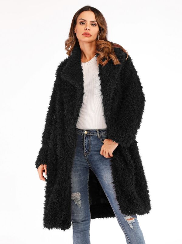2ceefede38 Cheap Solid Waterfall Collar Teddy Coat for sale Australia | SHEIN