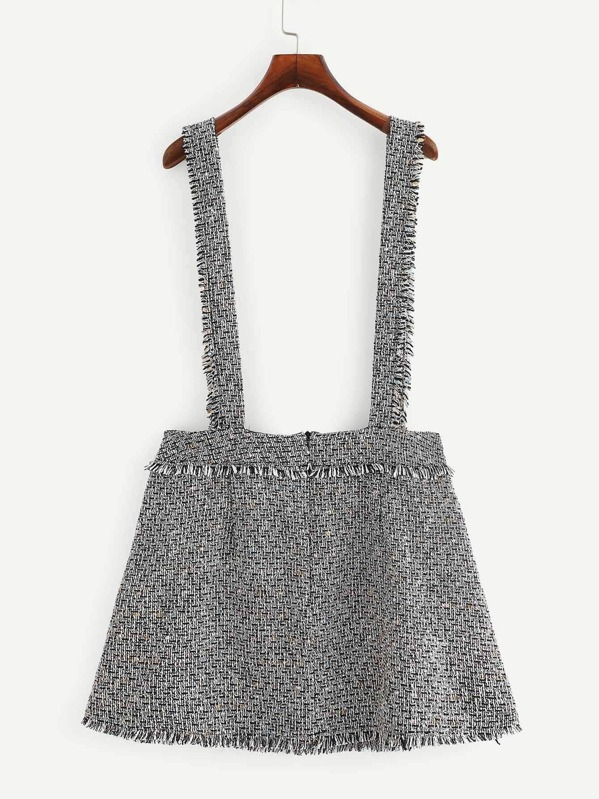 e6232fd92b Plus Braces Tweed Pinafore Mini Skirt | SHEIN UK