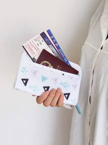 Triangle Print Document Storage Bag