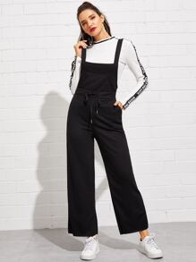Drawstring Waist Wide Leg Jumpsuit