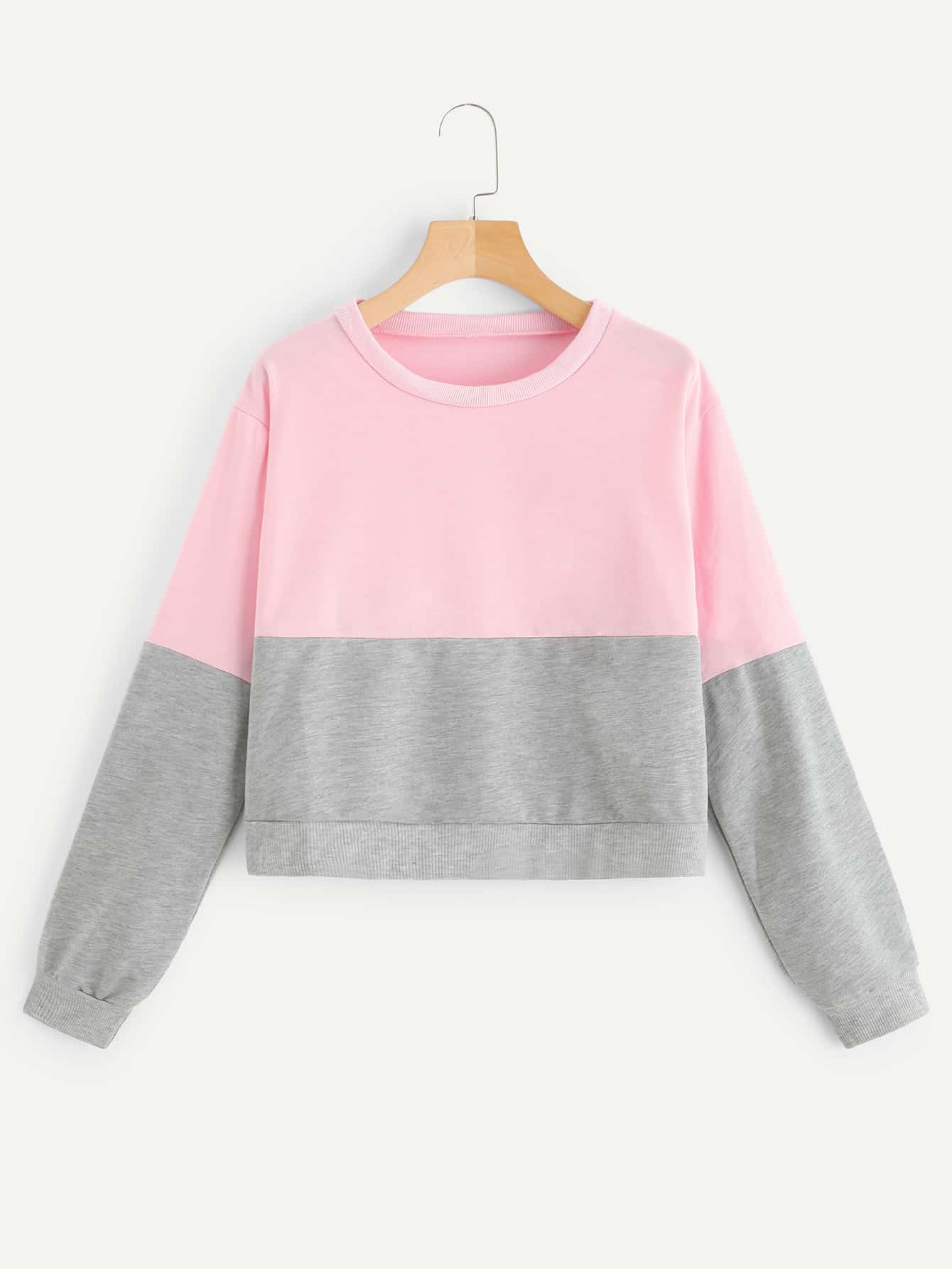 Drop Shoulder Two Tone Sweatshirt Drop Shoulder Two Tone Sweatshirt