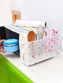 Striped Pattern Microwave Oven Dust Cover