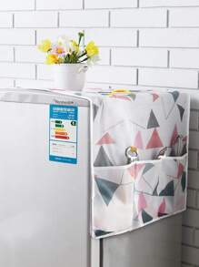 Geometric Pattern Refrigerator Dust Cover