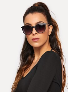 Two Tone Fat Lens Sunglasses