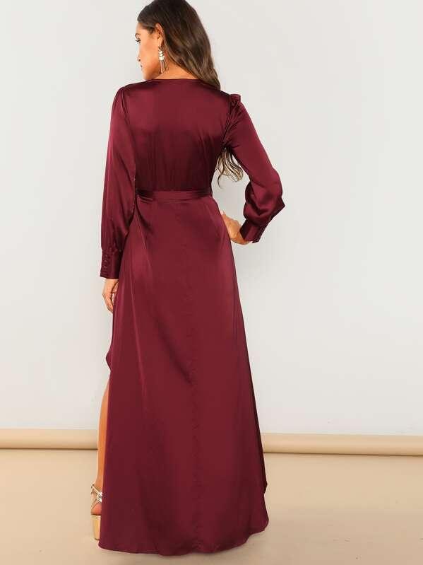 0d25f8b5a9 Cheap Waist Tie High-low Overlap Dress for sale Australia | SHEIN