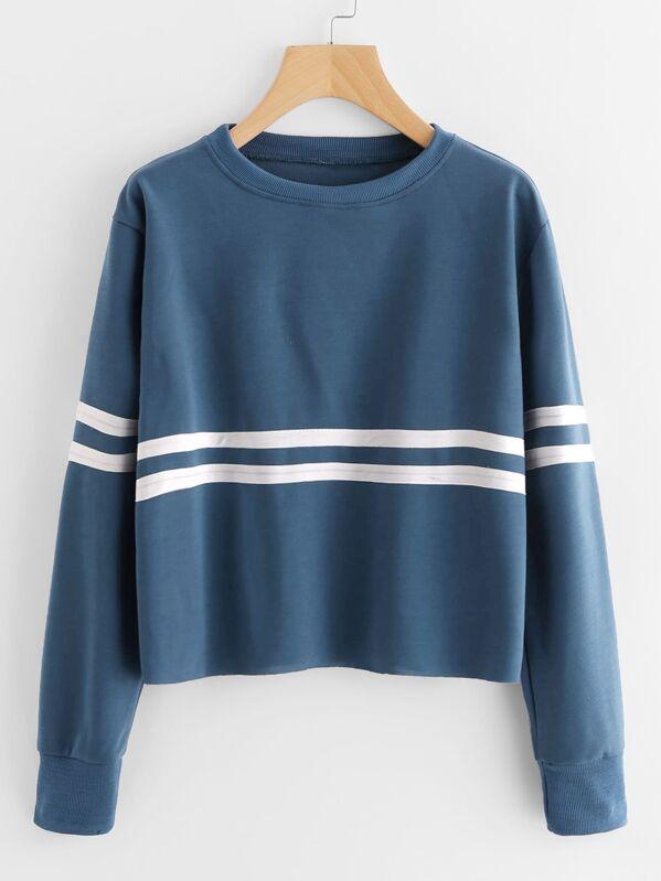 517e1d5ad82c Contrast Striped Sweatshirt