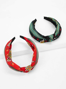 Tribal Print Headband 2pack