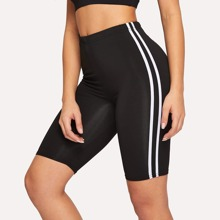 Contrast Taped Side Cycling Shorts