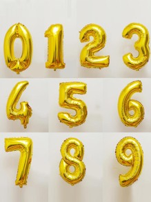 Decorative Number Balloon 1pc Gold